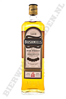 Bushmills red - Triple Distilled literfles
