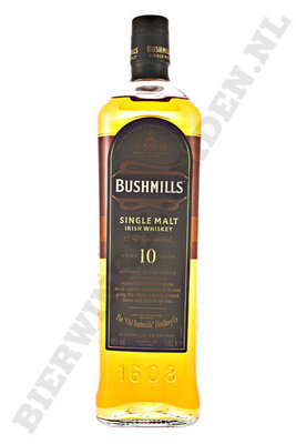 Bushmills - 10 Years literfles.
