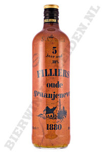 Filliers - 5 Jaar Oude Graan Jenever in nepkruik. 1 liter.